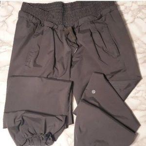 Lululemon gray windbreaker drawstring track pants
